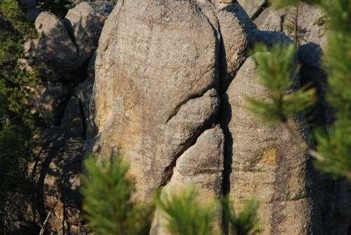 Rock Cracks Shadow Nature Art Pattern Cracked