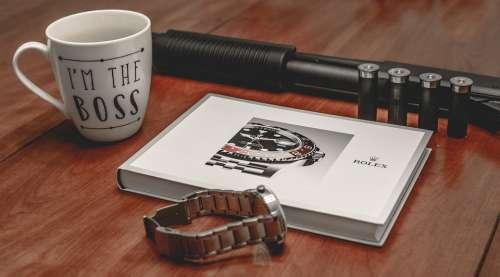 Rolex Boss Gun Gangster Watch Defense Defend Cup
