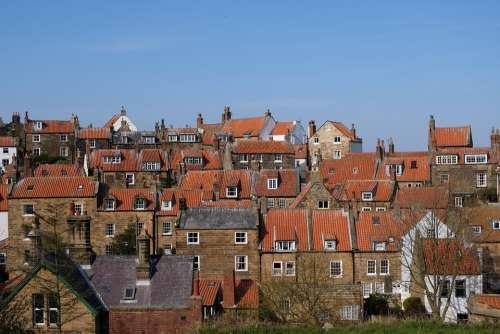 Roofs Terracotta Sky Skyline Tiles Houses Roof