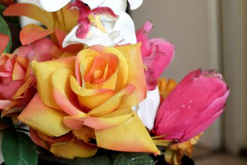 Rose Artificial Flowers Romantic Decorative