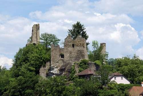 Ruins Of The Castle Neck Passau Bavaria