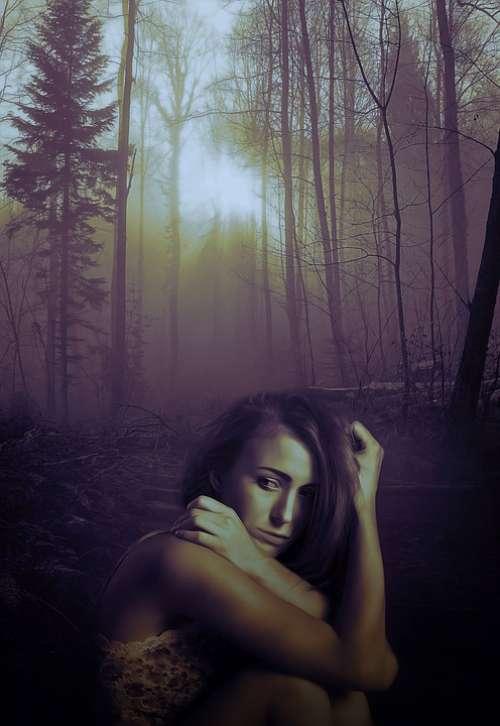 Sadness Loneliness Depression Alone Dark Female
