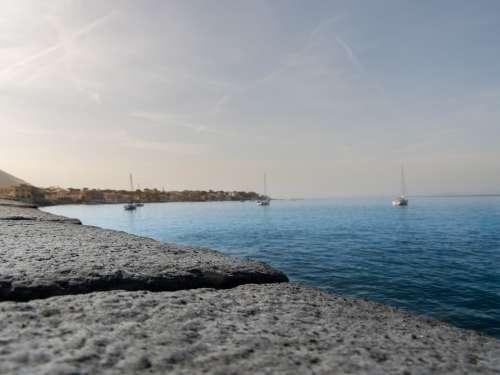 Sea Ischia Italy Island Mediterranean Tourism