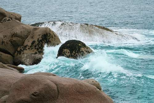 Sea Stones Water Ocean Sky Rock Rocks Nature