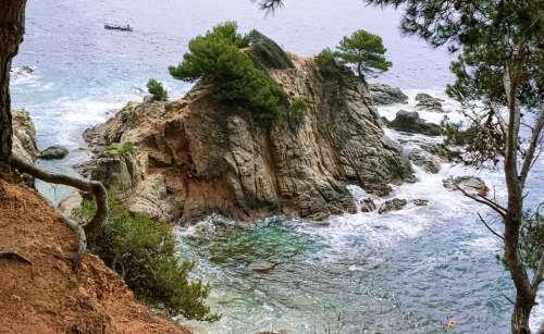 Sea Beach Rock The Coast Spain Water The Waves