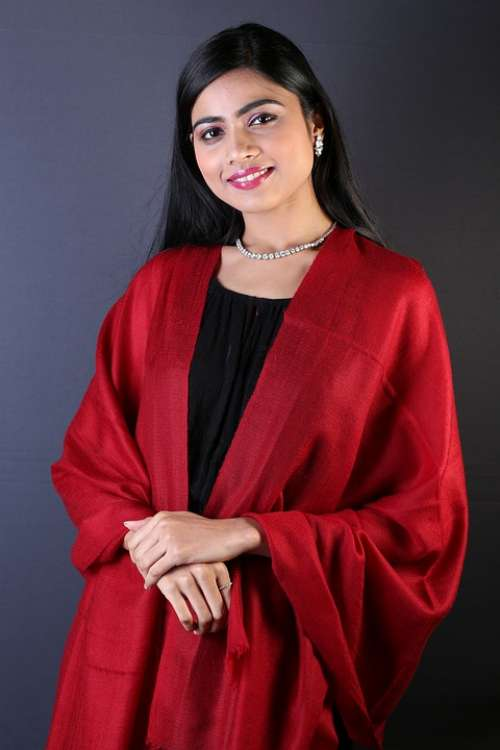 Shawl Pashmina Fashion Young Indian Adult Female