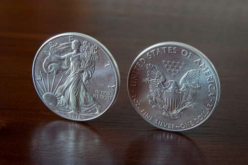 Silver Coin Currency Finance Wealth Metal Money