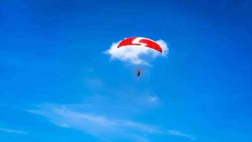 Sky Blue Paragliding Sport Parachute Paraglider