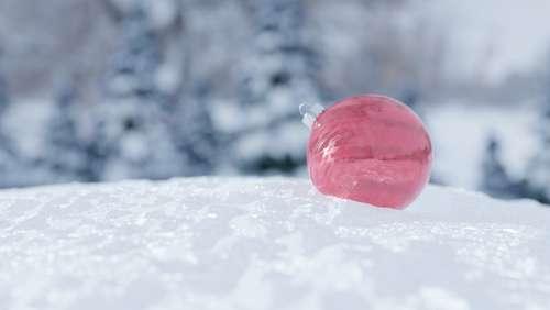 Snow Christmas Ball Winter Xmas