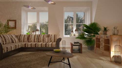 Sofa Desk Furniture The Interior Of The Lamp