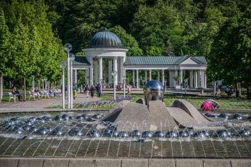 Spa Fountain Architecture Relax Marian Historical