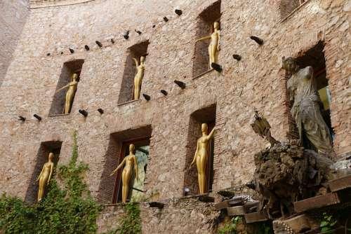 Spain Figuerres Museum Dali Figueras Dalí Figure