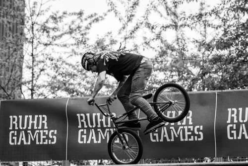Sport Cycling Bmx Bike Wheel Biker Jump