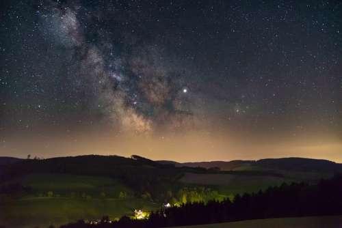 Star Milky Way Starry Sky Night Cosmos Sky Galaxy