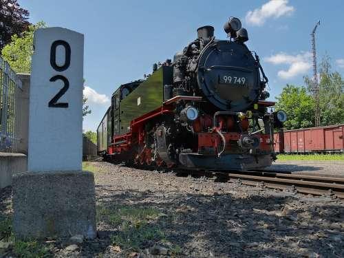 Steam Locomotive Zittau Mileage Railway Station
