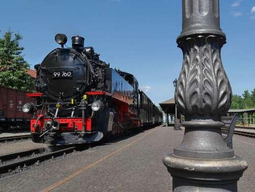 Steam Locomotive Railway Historically Nostalgia
