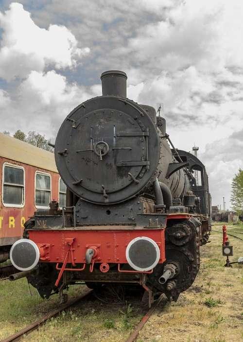 Steam Locomotive Loco Railway Historically Steam