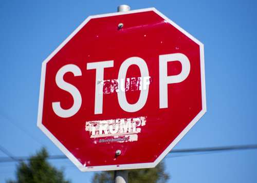 Stop Sign Street Sign Traffic Warning Caution Stop