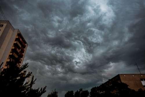 Storm Clouds Sky Atmosphere Figure Rain Dark