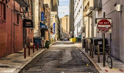 Street Alley Urban City Philadelphia Town