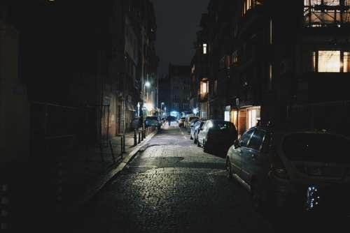 Street Alley Lane Night Dark Urban Town City