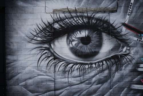 Street Art Eyes Digbeth Colorful Eye Drawing
