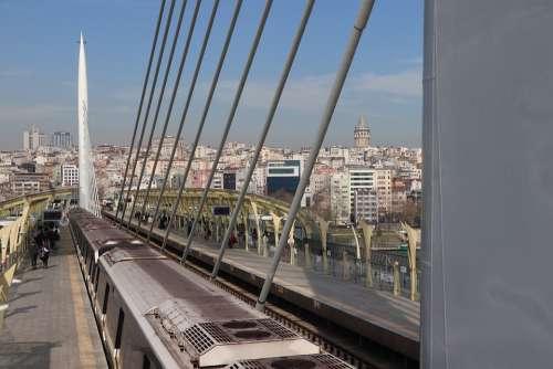Subway Bridge Transportation Architecture Urban