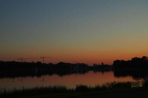 Sundown Sun Sky Nature Sunset Peaceful Landscape