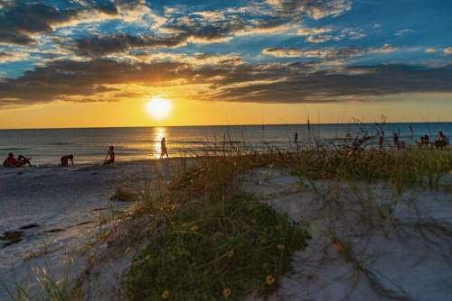 Sunset Florida Sky Landscape Colorful Beach