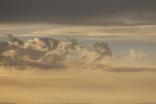 Sunset Sky Evening Clouds