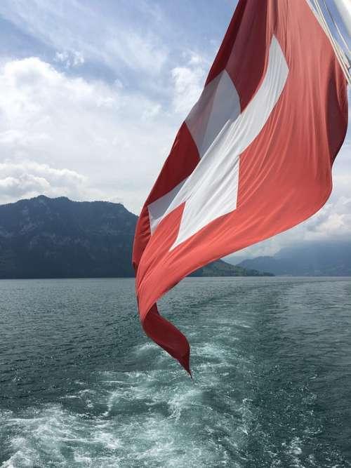 Switzerland Interlaken Thun Lake Lake Thun Travel