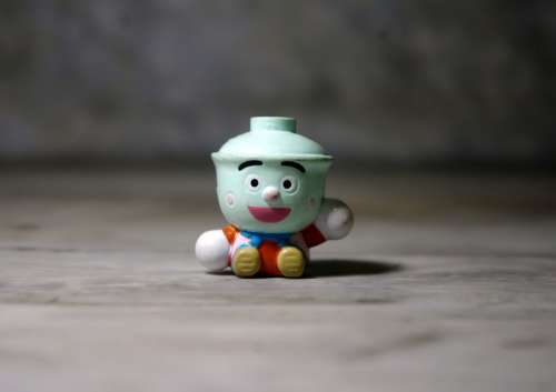 Tea Cup Fella Small Cute Funny Toy Figurine