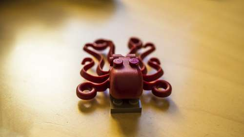 Tentacles Octopus Lego Shape Design Toy Plastic