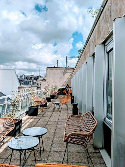 Terrace Eiffel Tower Paris France Architecture