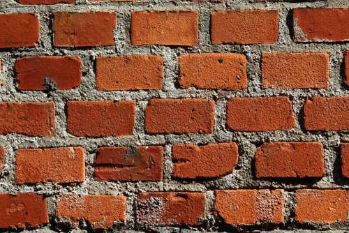 The Background Brick Red Brick Building The Cement