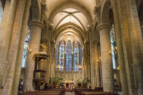 The Cathedral Of Saint Nazaire Carcassonne France