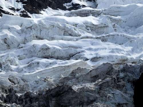 The Glacier The Tongue Of The Glacier Slit Ice