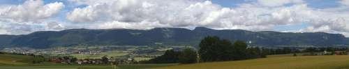 The Jura Chain Jura Mountains Panorama Grenchenberg