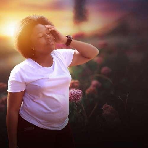 Thinking Sunset Morning Person Woman Meditation