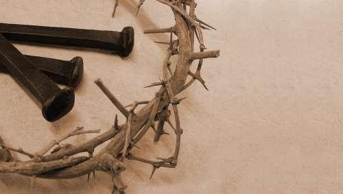 Thorn Crown Nails Jesus Christ God Holy Spirit