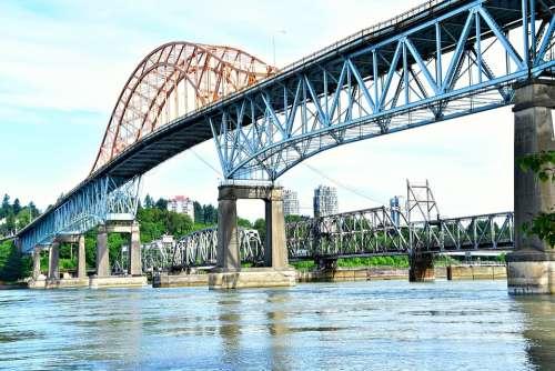 Through Arch Bridge An Iron Bridge Bridge