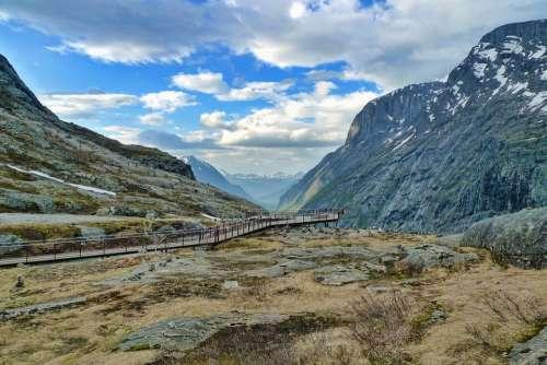 Trollstigen Norway Nature Mountains Tourism