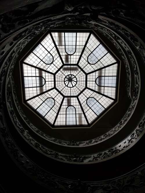 Vatican City Museum Ceiling Stair