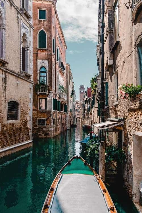 Venice Gondola Water Architecture Boat Bridge