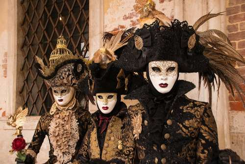 Venice Mask Carneval Italy Carnival Mysterious