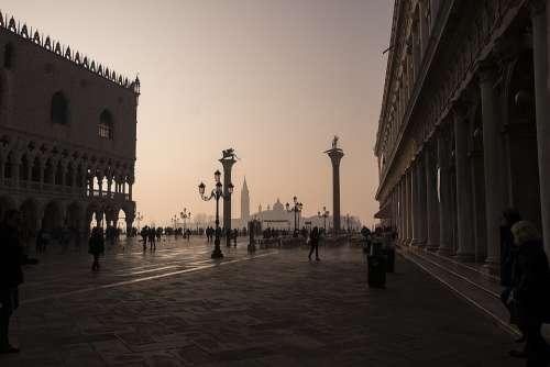 Venice Sunrise Italy Architecture Travel Europe