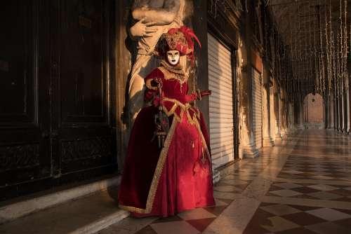 Venice Carneval Mask Carnival Masquerade Costume