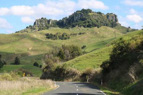 Waikato New Zealand Road Green Countryside Country