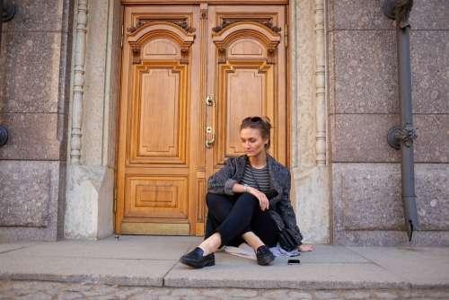 Walk Girl Women Street Door Light Day Travel