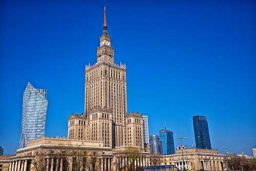Warsaw Building Architecture City Poland Old